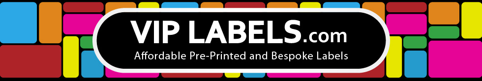 VIP Labels Pre-printed labels and stickers for retail, industrial, education and marketing purposes.